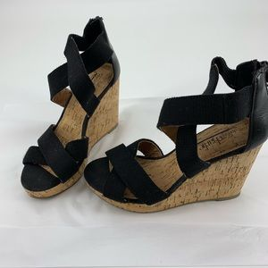Charming Charlie's Wedges Black Size 8